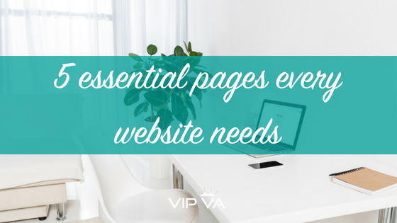 5 essential pages every website needs